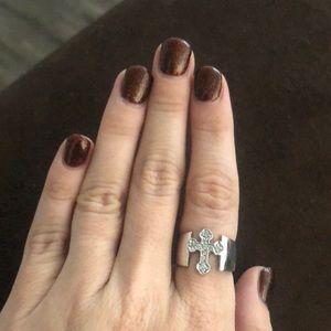 Premier designs diamond cross ring